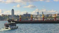 Bulk carrier ship Stock Footage