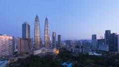 Kuala Lumpur City Centre,  Malaysia, T/L Stock Footage