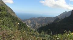 La Gomera, Landscape, Barranco de Monteforte Stock Footage