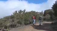Stock Video Footage of La Gomera, walking people between Igualero and Hermigua