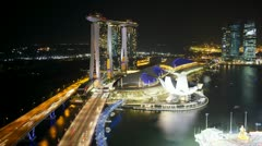 Helix Bridge Marina Bay, Singapore, T/L Stock Footage