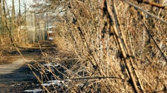 Abandoned track Stock Footage