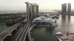 Helix Bridge Marina Bay, Singapore, T/L Stock Footage
