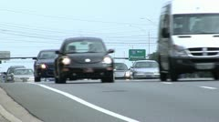 Traffic compressed left-right movement 4-lanes Stock Footage
