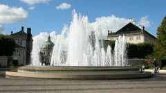 Fountain of Amalie Garden Stock Footage