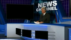 News Broadcaster 6 Stock Footage
