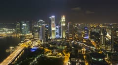 Financial district, Singapore city, Asia, T/L Stock Footage