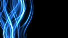 Abstract Energy Looping Streaks in Blue with Copy Space - stock footage