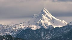 Poot Peak in Early Spring with Birds Stock Footage