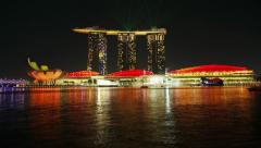 Marina Bay, Singapore, T/L Stock Footage