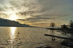 Switzerland, Vevey Stock Photos