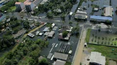 Thailand Flood aerials Oct 25 file 1280 Stock Footage
