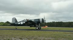 F-4U Corsair fighter from world War II Stock Footage