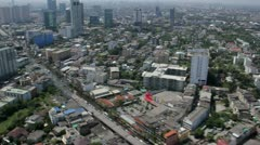 Thailand Flood aerials Oct 25 file 1286 Stock Footage