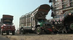Truck shop in Pakistan - stock footage