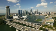 Singapore time lapse of Marina bay and the new city skyline - stock footage