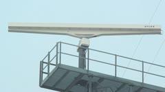 Sea radar rotating Stock Footage