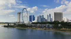 Singapore Flyer, Malaysia, T/L Stock Footage