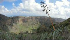 Stock Video Footage of La Caldera de Bandama in volcanic island Gran Canaria Full HD