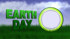 Earth day text speech Stock Footage