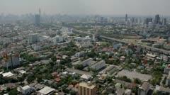Thailand Flood aerials Oct 25 file 1287 5th Stock Footage