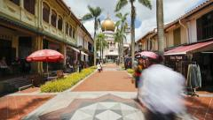 Sultan Mosque, Singapore, Asia, T/L Stock Footage