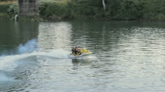 Jet Ski on River Stock Footage