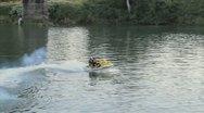 Jet Ski on River Stock Footage
