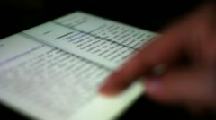 Turning the Page of an E-Book on a Touchscreen Tablet PC Stock Footage