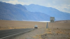 Desert highway in Death Valley PT4 Stock Footage