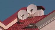 Satellite dish. Stock Footage