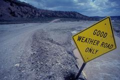 good weather road - stock photo