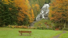 New England Autumn foliage and waterfall Stock Footage