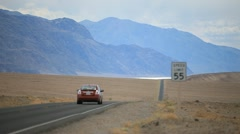 Desert highway in Death Valley PT6 Stock Footage