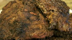Barbecue Steak Stock Footage