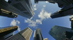 Banks and Commercial buildings in Singapore, Asia Stock Footage