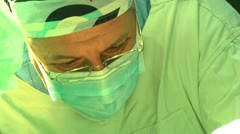 Surgeon close-up - stock footage