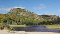The Beehive in Autumn, Acadia National Park, Maine Stock Footage