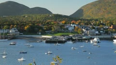 Bar Harbor, Maine, Autumn morning (zoom out) Stock Footage