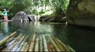 Stock Video Footage of Rafting on the river in the jungle 1