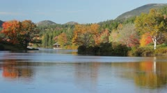 Long Pond Fall foliage, Mount Desert Island, Maine Stock Footage