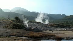 Geysers & volcanic evaporation Stock Footage