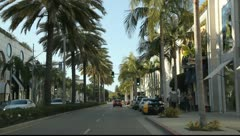 Rodeo Drive, Beverly Hills, California - stock footage