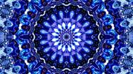 Stock Video Footage of Auroral Ice Mandala Kaleidoscope