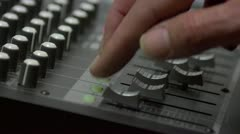 Professional multitrack sound recording - stock footage