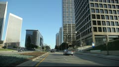 Drive on Avenue of the stars in Los Angeles Stock Footage