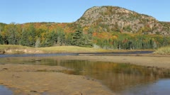 The Beehive autumn reflections, Acadia National Park, Maine Stock Footage