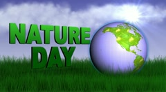 Nature day world Stock Footage