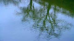 Reflection of tree on the river. Stock Footage