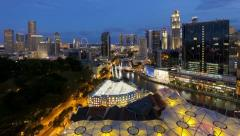 Clarke Quay, Singapore, T/L Stock Footage